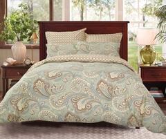 Сатиновое постельное бельё  1,5 спальное Сайлид  В-188
