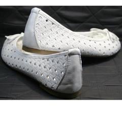 Туфли балетки белые Vasari Gloria 19Y38860-37 White.