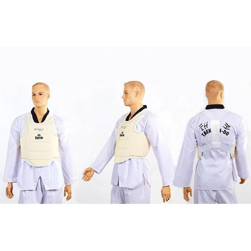 Как одевать детскую защиту корпуса для единоборств Daedo BO-5384