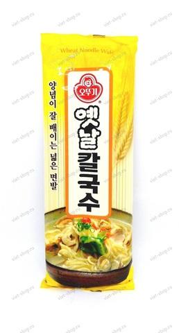 Корейская пшеничная лапша (широкая плоская) Ottogi Wheat Noodle, 500 гр.