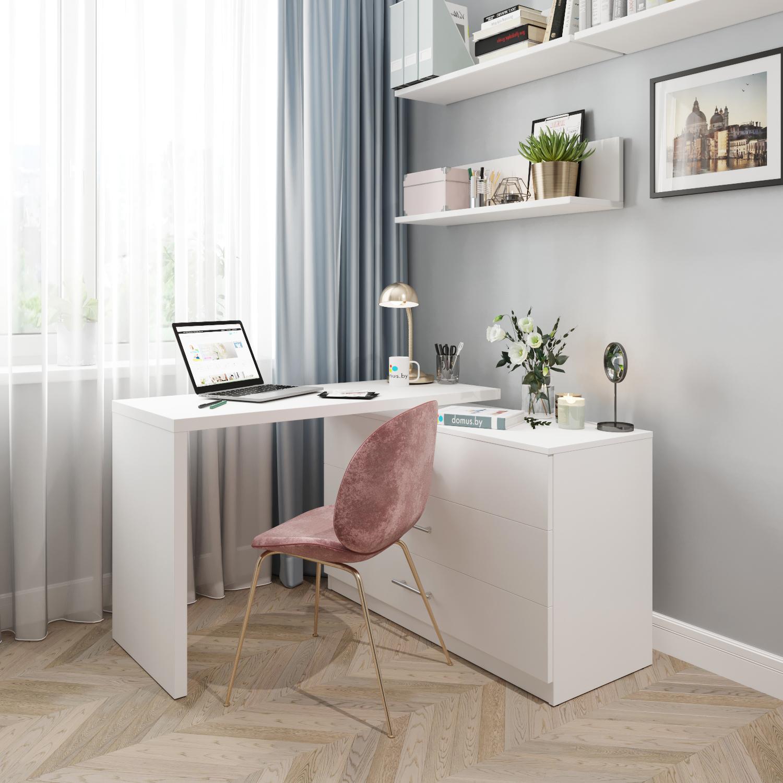 Поворотный стол-комод ДОМУС СТР07 белый