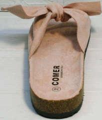 Ортопедические летние шлепки модные Comer SAR-15 Pink.