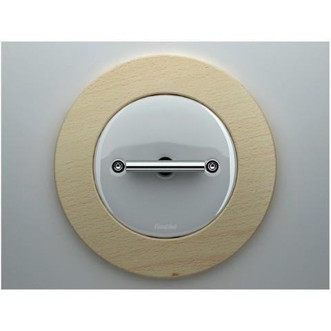 Выключатель/переключатель поворотный на 2 направления(проходной, схема 6+6) 10А 250В~. Цвет Белый. Fontini DO(Фонтини До). 33302172