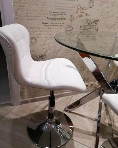 Полубарный стул мастера Porsche/Порше (стул для маникюра/косметолога)