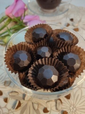 Конфеты шоколадные из кэроба с Миндалём (дробленым), на пекмезе 60 г