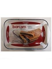 Форма для выпечки жаропрочная стеклянная прямоугольная 3,8 литра Borcam 59124 лоток прямоугольный 40х25х6 см вкладыш