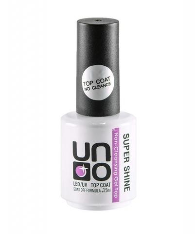 UNO, Топ без липкого слоя Top Coat Super Shine, 15 мл