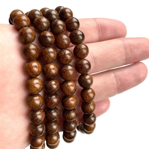 Бусина из сандалового дерева шар 8 мм 1 бусина