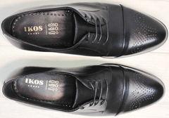 Черные вечерние туфли под костюм мужские Ikoc 2249-1 Black Leather.