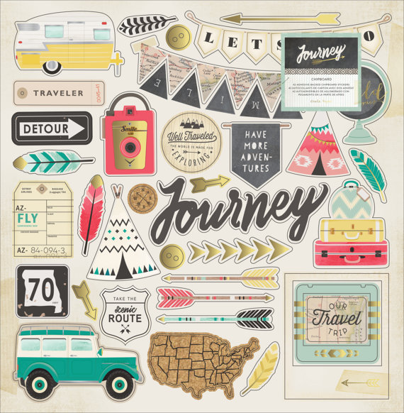 Чипборд Journey by Crate Paper
