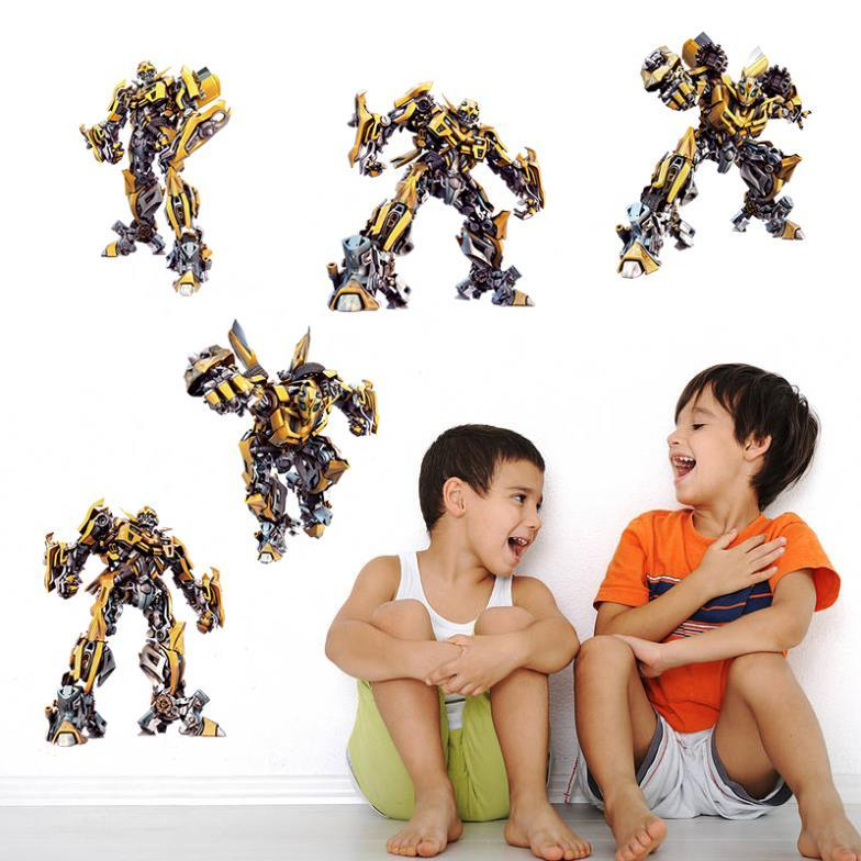 Трансформеры 3D Наклейка на стену Бамблби — Transformers Bumblebee Wall Sticker 3D Art