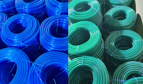 Шланг Ø 18 мм толщина стенки 2.5 мм ( синий / зеленый ) (длина в бухте 50м)