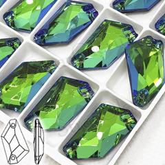 Купить пришивные стразы формы De-Art Де-Арт цвета Sphinx ярко-зеленые недорого