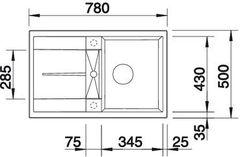 Мойка Blanco Metra 45S Жемчужный - схема