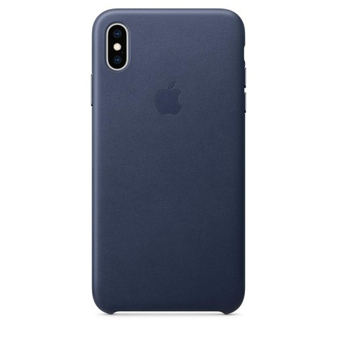 Чехол iPhone X/XS Leather Case /midnight blue/