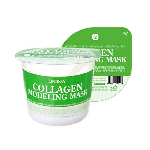 Lindsay Маска альгинатная антивозрастная коллагеном Collagen Modeling Mask Cup Pack 28 г.