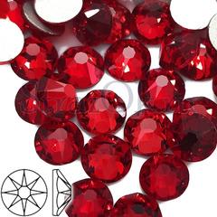 Купить оптом клеевые стразы холодной фиксации Xirius Siam красные