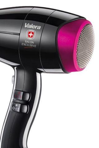 Фен Valera ColorPro Light 3000, 2100 Вт, 2 насадки, черный/розовый