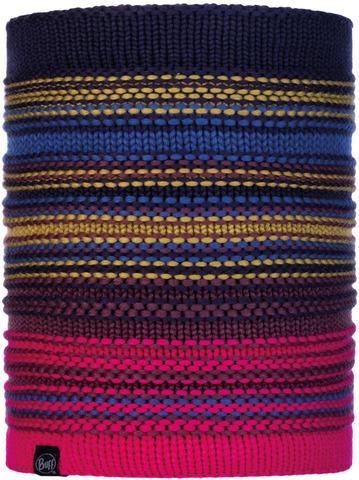 Вязаный шарф-труба с флисом Buff Neckwarmer Knitted Polar Neper Night Blue фото 1