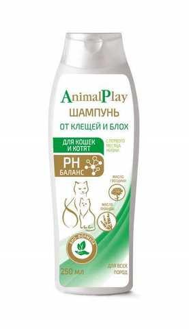 Animal Play Шампунь репеллентный для кошек и котят 250мл
