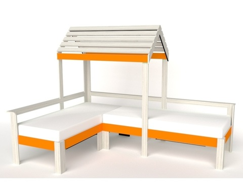 Кровать АВАРА-3 с крышей правая
