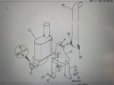 Шпилька крепления турбины M10*37 mm jcb 3cx 4cx 826/11384