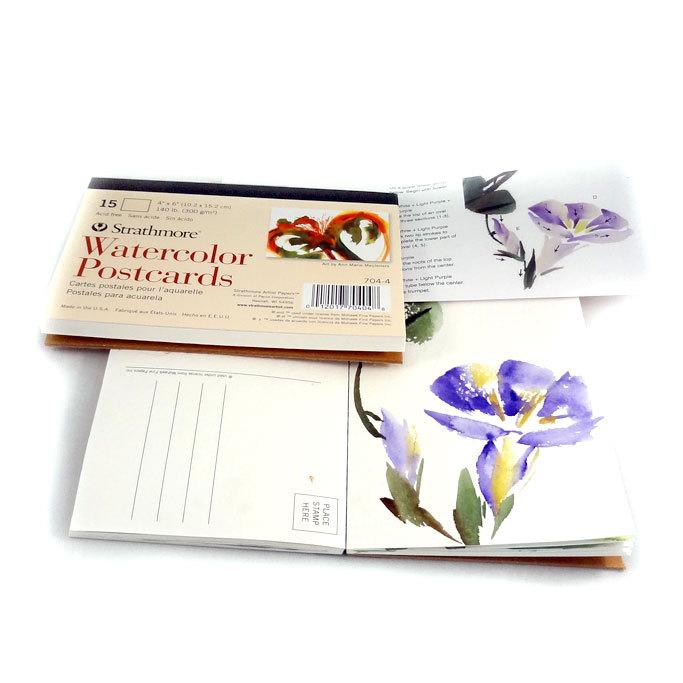 Основа открытки для акварели Watercolor Postcards 10х15см  -15шт.