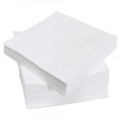 Салфетка спанлейс белый 30х40 см 100 шт/упк
