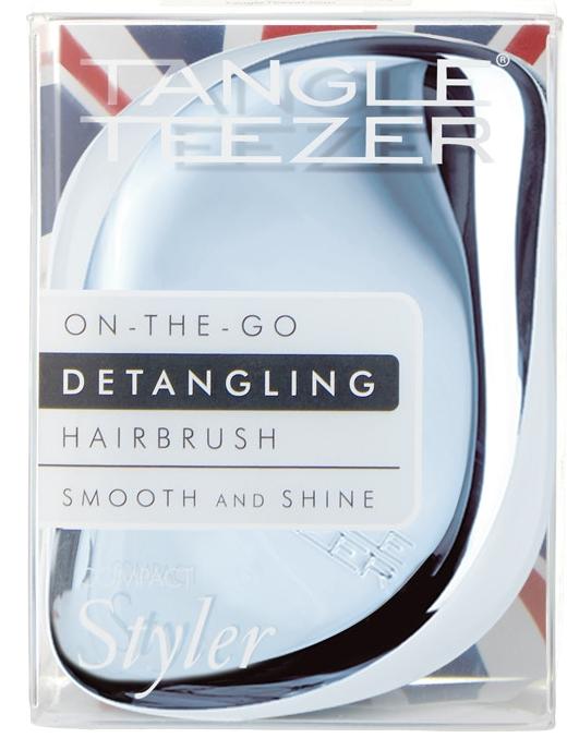 Tangle Teezer Compact Styler Sky Blue Delight Chrome расческа для волос