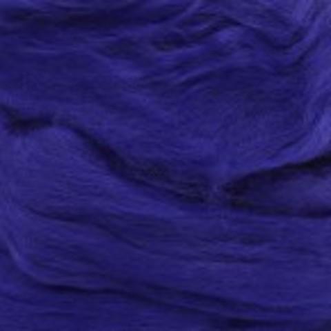 Шерсть для валяния полутонкая 698 Темно-фиолетовый (Пехорка)