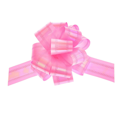 Бант-шар №5 перламутровый, цвет розовый / 1 шт. /