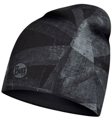 Теплая шапочка с флисом BUFF® Microfiber Reversible Geoline Grey