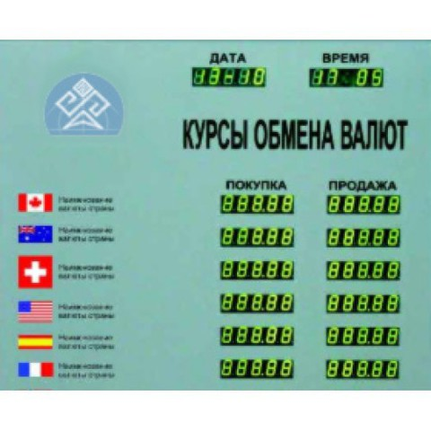 Табло курсов валют Kobell TEK 6