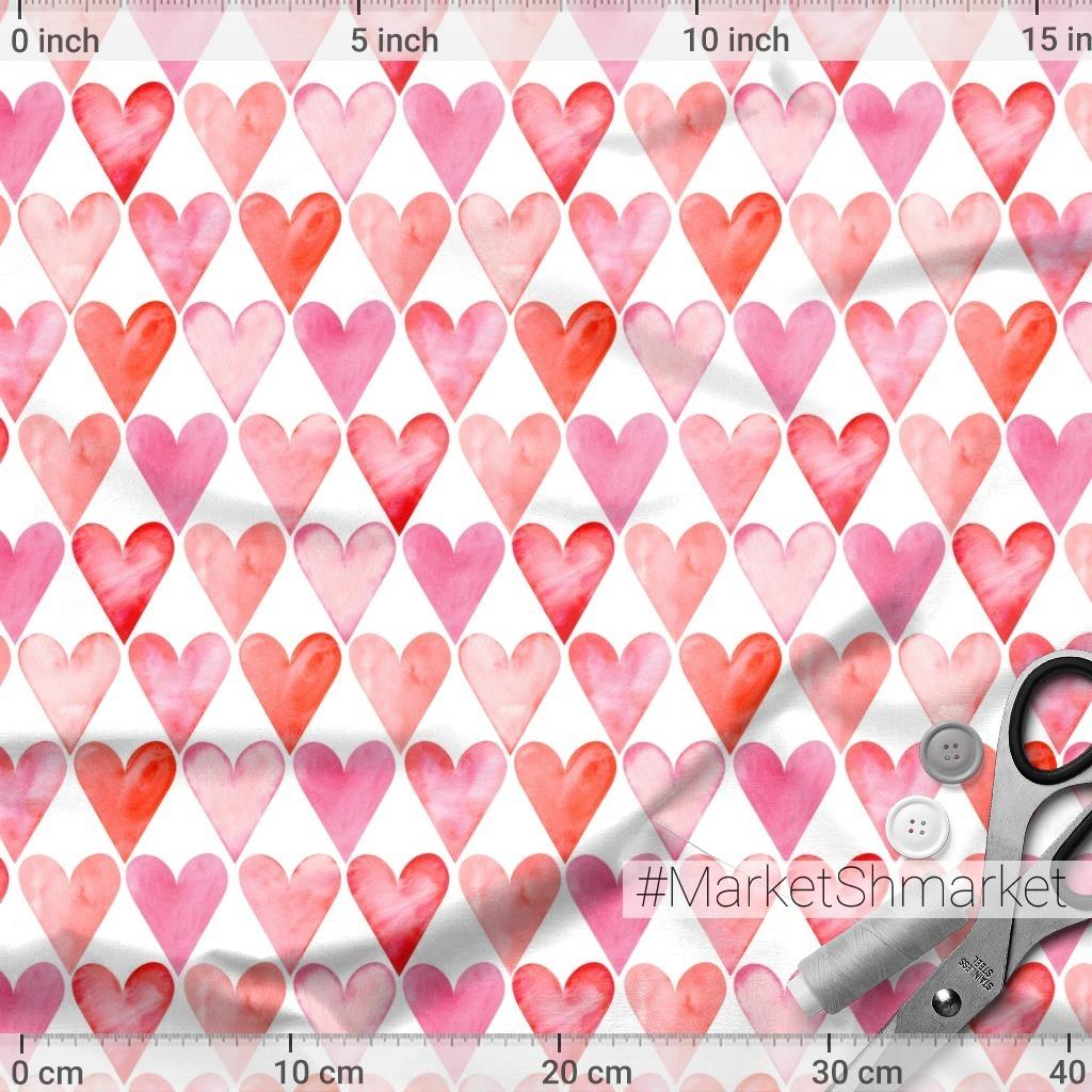 Красно-розовые сердечки