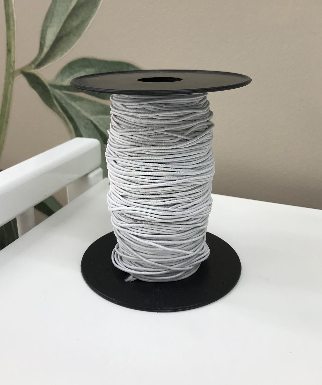 Резинка шляпная белая, 1,5 мм