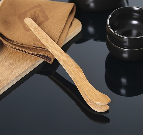 Набор для чайной церемонии Tyasitsu Black, 8 предметов: чайник 120 мл, 4 чашки 50 мл, щипцы, салфетка, подставка