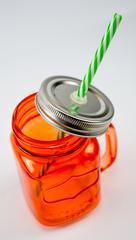 Баночка для смузи и коктейлей, оранжевая, фото 2