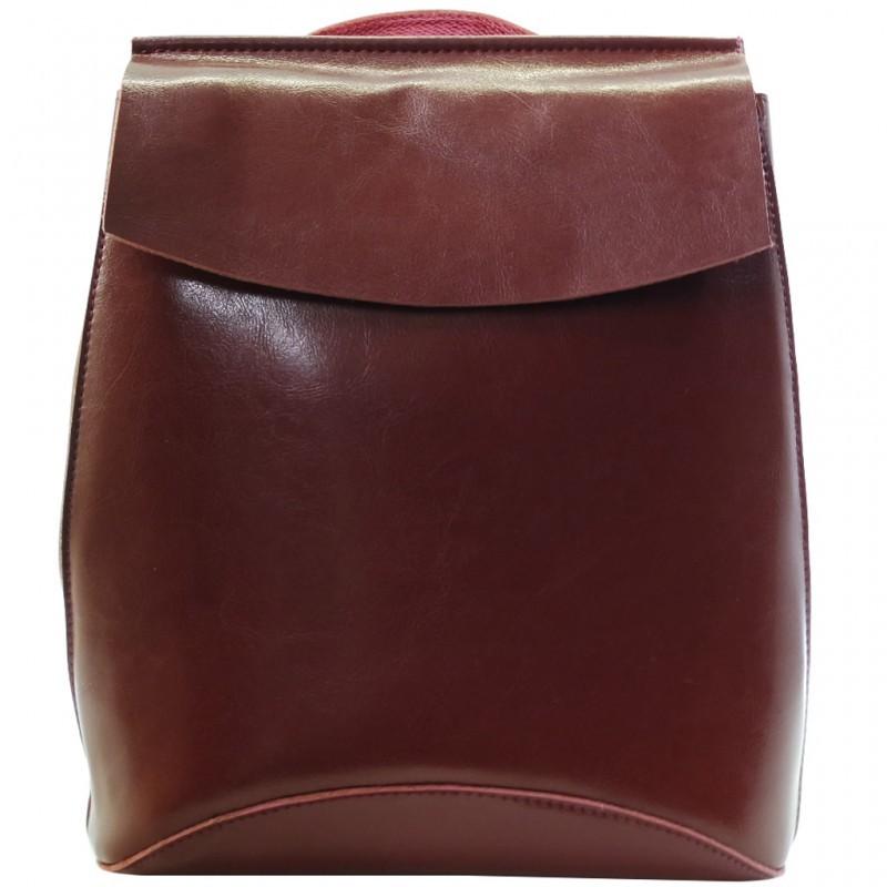 Женский бордовый рюкзак из кожи 2191