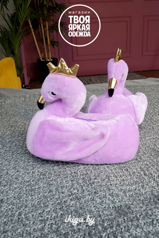 "Тапочки Тапочки ""Королевские Фламинго фиолетовые"" фламинго_фиолетовые_королевские2.jpg"
