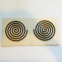 Трафареты графомоторные - объёмные для одновременного рисования двумя руками Сенсорика