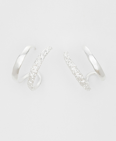 Серьги Twin Star silver
