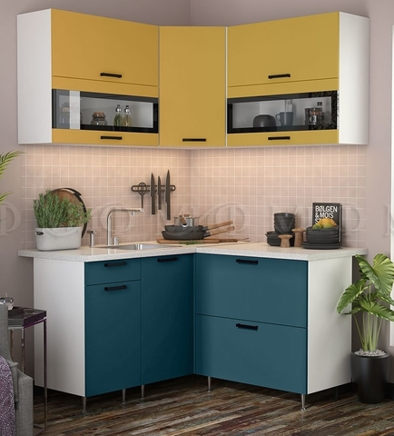 Кухня Угловая Техно NEW 1,4-1,4 м №4