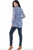 Блузка для беременных 01406 синий