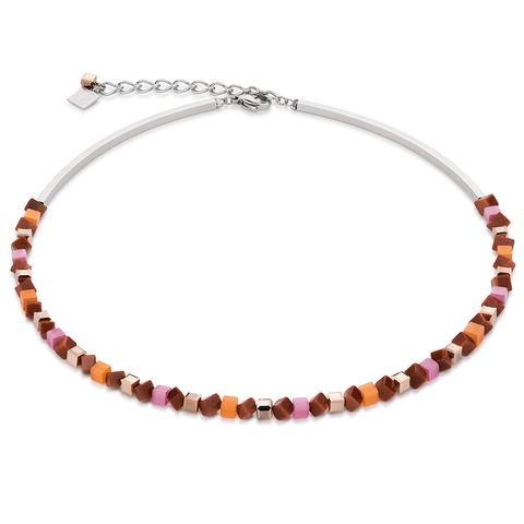 Колье Coeur de Lion 4911/10-0219 цвет оранжевый, коричневый, розовый