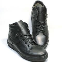 Мужские зимние ботинки с мехом Ikoc 1608-1 Sport Black .