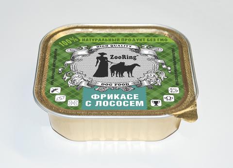 ЗООРИНГ Корм консервированный полнорационный для собак (паштет) Фрикасе с лососем 1,6 кг.