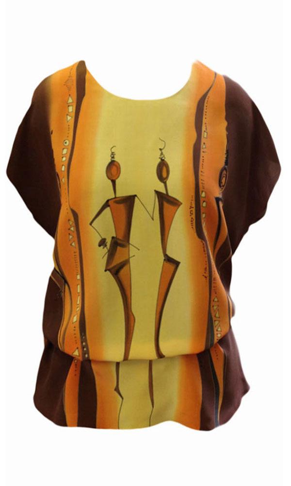 Шелковая блузка батик Подиум