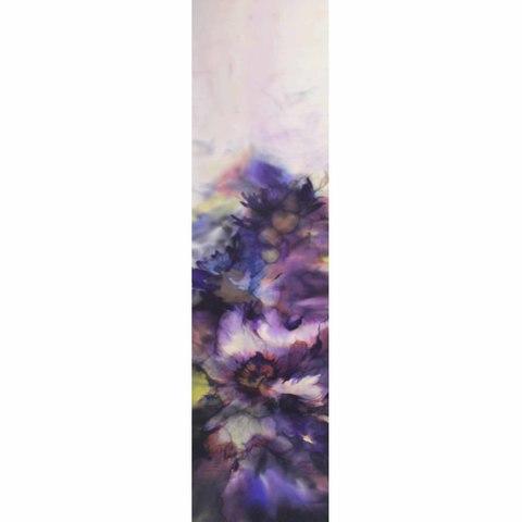 Шелковый шарф батик Фиолетовая Акварель С-58