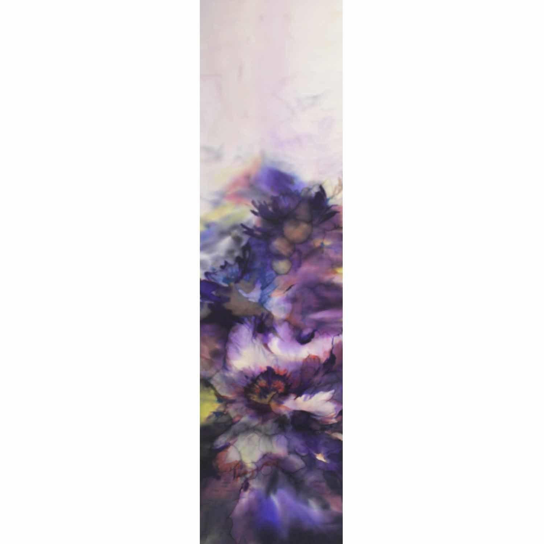 Шелковый шарф батик Фиолетовая акварель