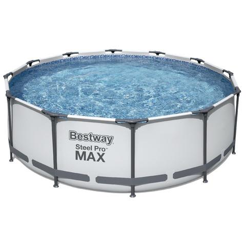 Каркасный круглый бассейн Bestway 56418 (366х100 см) с картриджным фильтром и лестницей / 16581